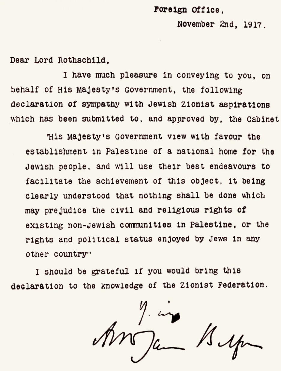 The Historical Paths to the Balfour Declaration